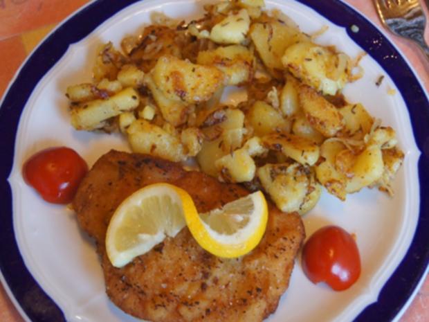 Alm-Schnitzel mit herzhaften Bratkartoffeln - Rezept - Bild Nr. 13