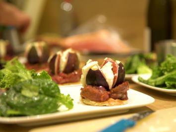 Mit Ziegenkäse überbackene Feige auf Feigen-Schalotten-Chutney - Rezept - Bild Nr. 4