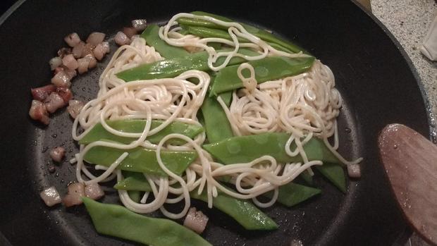 Bohnen - Spaghetti - Carbonara - Rezept - Bild Nr. 6903