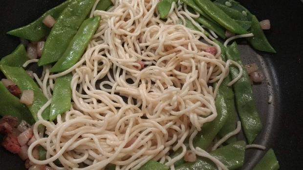 Bohnen - Spaghetti - Carbonara - Rezept - Bild Nr. 6904