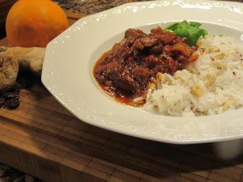 Rezept: Fleisch: Orientalisch angehauchter Lammtopf mit Cashewreis