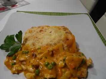 Rezept: Gemüse-Hühnchen-Lasagne