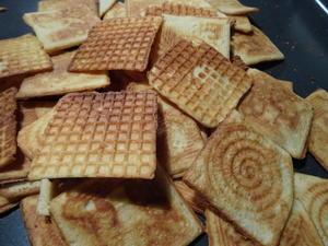 Käse-Waffeln, dünn und knusprig - Rezept - Bild Nr. 6906