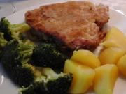 Backofenkoteletts mit Brokkoli und Kartoffeln - Rezept - Bild Nr. 6931