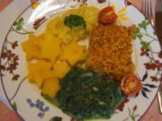 Schlemmerfilet mit pikanten Rahmspinat und Kartoffelstampf mit Kartoffelsternen - Rezept - Bild Nr. 2