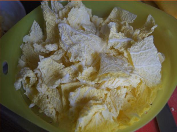 Hackfleisch mit Wirsing im Wok mit Kartoffeln - Rezept - Bild Nr. 5