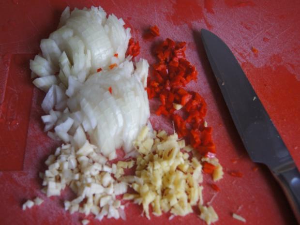 Hackfleisch mit Wirsing im Wok mit Kartoffeln - Rezept - Bild Nr. 6