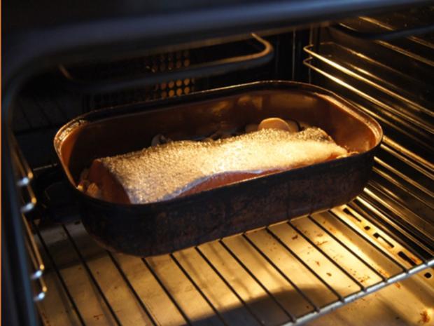 Backofenlachsfilet auf Champignons mit Zuckerschotenpüree und Süßkartoffelstampf - Rezept - Bild Nr. 6941