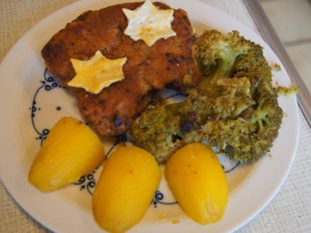 Stielkoteletts mit Brokkoli und Kartoffeln - Rezept - Bild Nr. 2