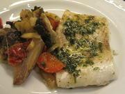 Fisch: Zander mit flüssiger Kräuterbutter und Ofengemüse* - Rezept - Bild Nr. 6939