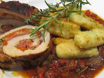 Rezept: Fleisch: Schweinerouladen a´la Mamma di Toscana mit Peperonata-Soße