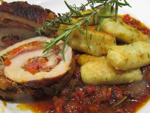 Fleisch: Schweinerouladen a´la Mamma di Toscana mit Peperonata-Soße - Rezept - Bild Nr. 6943