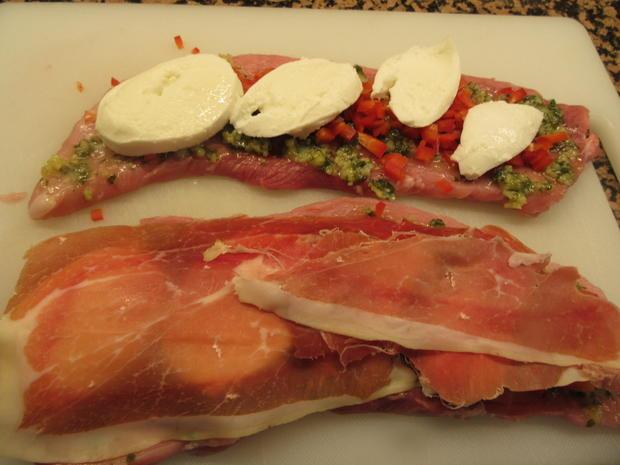 Fleisch: Schweinerouladen a´la Mamma di Toscana mit Peperonata-Soße - Rezept - Bild Nr. 6946