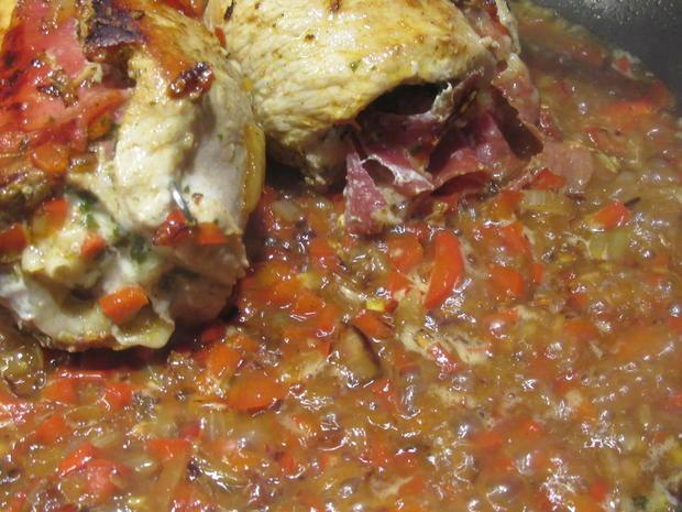 Fleisch: Schweinerouladen a´la Mamma di Toscana mit Peperonata-Soße - Rezept - Bild Nr. 6950