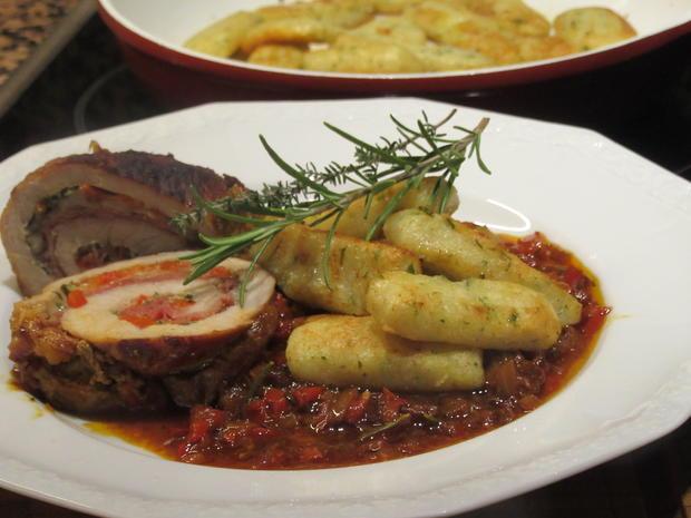 Fleisch: Schweinerouladen a´la Mamma di Toscana mit Peperonata-Soße - Rezept - Bild Nr. 6952