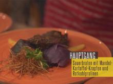 Rheinischer Sauerbraten mit knusprigen Mandel-Kartoffel-Krapfen - Rezept - Bild Nr. 6955