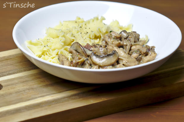 Kaninchengeschnetzeltes mit Pasta - Rezept - Bild Nr. 6993