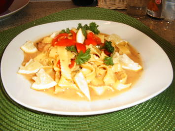 Rezept: Crevetten mit Tagliatelle