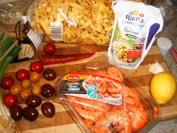 Crevetten mit Tagliatelle - Rezept - Bild Nr. 6986