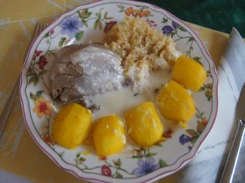 Eisbein mit pikanten Sauerkraut, Kartoffeln und Meerrettichsauce - Rezept - Bild Nr. 2