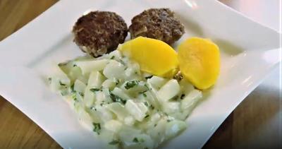Kohlrabi mit Frikadellen und Salzkartoffeln - Rezept - Bild Nr. 6991