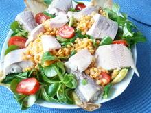 Feldsalat mit Linsen und Räucherfisch - Rezept - Bild Nr. 7