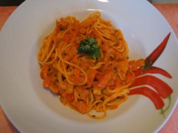 Spaghetti mit Ajvar und Putenbrustfilet - Rezept - Bild Nr. 2