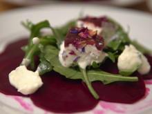 Rote-Bete-Carpaccio mit Meerrettichschaum und Ziegenkäse - Rezept - Bild Nr. 2