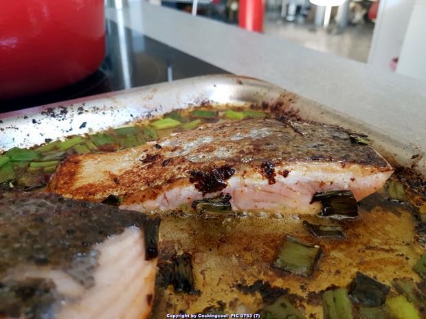 Biggi`s Fisch = Lachs an Käse-Creme-Spinat und Salzkartoffel - Rezept - Bild Nr. 7029