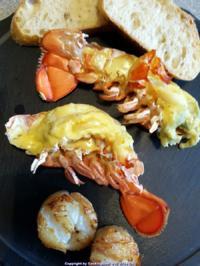 Rezept: Biggi`s Spezial = Hummer (Lobster) Gratiniert à la Thermidor