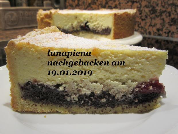 Mohn-Quark- Kuchen mit Preiselbeermarmelade - Rezept - Bild Nr. 7062