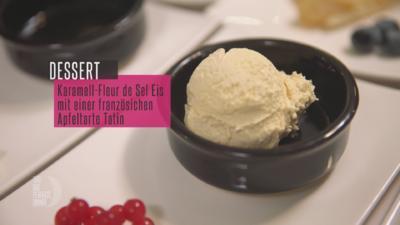 Karamell-Meersalz-Eis mit Tarte Tartin - Rezept - Bild Nr. 7089
