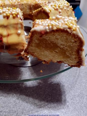 """Oma Löffel`s Kuchen = Mein """"Lieblingskuchen"""" ein Karamellcreme Marzipanrührkuchen - Rezept - Bild Nr. 7104"""