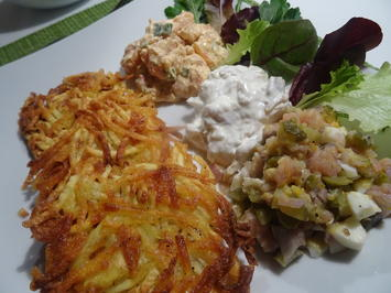 Rezept: Räucherfisch-Salat mit Rösti