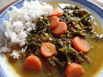 Rezept: Grünkohl-Linsen-Curry