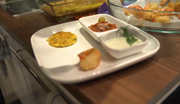 Beignets de Crevette mit Grillsalat, Tagine und Sauce Tartar - Rezept - Bild Nr. 2