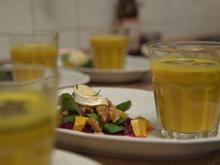 Kürbis-Ingwer-Suppe und Rote-Bete-Carpaccio mit Feldsalat - Rezept - Bild Nr. 7138