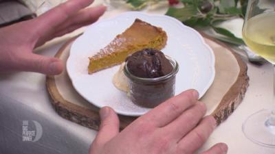 Pumpkin Pie, Rote-Bete-Schokoladen-Soufflé und Vanilleeis - Rezept - Bild Nr. 2