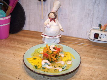 Gemüse mit Curry-masala- Kokos- Soße - Mango - Rezept - Bild Nr. 7156