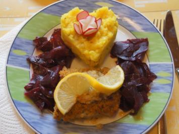 Schlemmerfilet mit Rote Bete Salat und Sellerie-Kartoffelstampf - Rezept - Bild Nr. 2