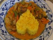 Putenbrustfilet-Gemüse-Curry mit gelben Jasmin Reis - Rezept - Bild Nr. 7170