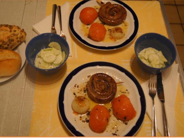 Leckerli-Teller mit Gurkensalat - Rezept - Bild Nr. 9