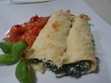 Crespelle alla Fiorentina e salsa di Pomodoro - Rezept - Bild Nr. 7195
