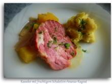 Kasseler mit fruchtigem Schalotten-Ananas-Ragout - Rezept - Bild Nr. 7195