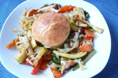 Asia - Salat mit Parmesan - Souffle´ - Rezept - Bild Nr. 7216