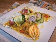 Seelachs Röllchen im Zucchini Mantel - Rezept - Bild Nr. 7276