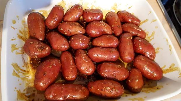 Kicher-Schnitzel, Röstkartoffeln und Curry-Lauch - Rezept - Bild Nr. 7573