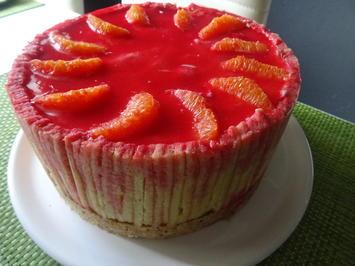 Rezept: Blutorangen-Käse-Sahne-Torte