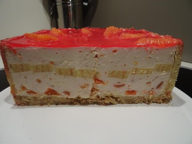 Blutorangen-Käse-Sahne-Torte - Rezept - Bild Nr. 7550