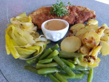 Schnitzel - Bohnen - Lauch - Kartoffel = Kochbar Challenge 1.0 (Februar 2019) - Rezept - Bild Nr. 2